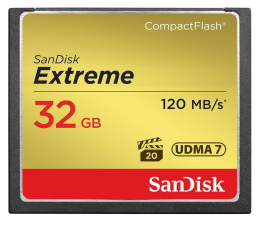 SanDisk 32GB Extreme zapis 85MB/s odczyt 120MB/s  (SDCFXSB-032G-G46)
