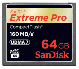 SanDisk 64GB Extreme Pro zapis 150MB/s odczyt 160MB/s  (SDCFXPS-064G-X46)