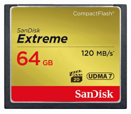 SanDisk 64GB Extreme zapis 85MB/s odczyt 120MB/s  (SDCFXSB-064G-G46)
