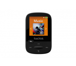 SanDisk Clip Sport 4GB Black (microSD, słuchawki, FM, LCD) (SDMX24-004G-G46K / SDMX24-004G-G46KP)