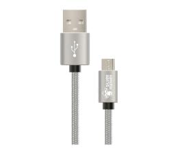 Silver Monkey Micro USB do Smartfona i Tabletu 1,5m w oplocie  (MU-015SM02)