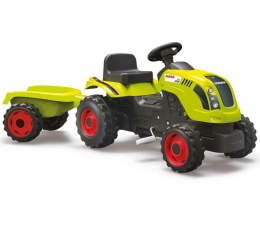 Smoby Traktor XL CLAAS z przyczepą  (3032167101143)