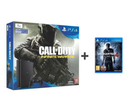 Sony PlayStation 4 1TB Slim + CoD IW + Uncharted 4 (D chassis)