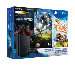 Sony Playstation 4 1TB Slim+Horizon+Uncharted ZG+LBP 3 (711719918066)