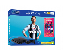 Sony Playstation 4 Slim 1TB + FIFA 19 + Kontroler (711719742814)
