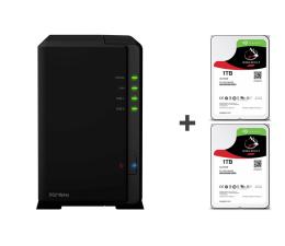 Synology DS218play 2TB (2xHDD, 4x1.4GHz, 1GB, 2xUSB, 1xLAN) (DS218play (w zestawie 2xST1000VN002) )