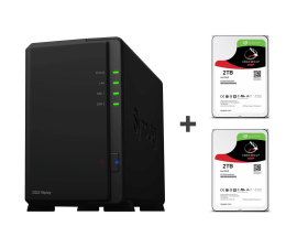 Synology DS218play 4TB (2xHDD, 4x1.4GHz, 1GB, 2xUSB, 1xLAN) (DS218play (w zestawie 2xST2000VN004))