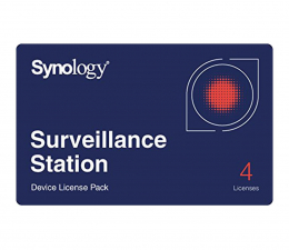 Synology Licencja Camera License Pack (4 dodatkowe kamery) (CAMERA LICENSE PACK (X 4))