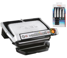Tefal OptiGrill GC712D + zestaw noży Ice Force (358304 + 479376)