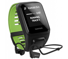 TomTom Runner 3 Cardio+Music+HP S czarno-zielony +300zł (1RKM.001.11)
