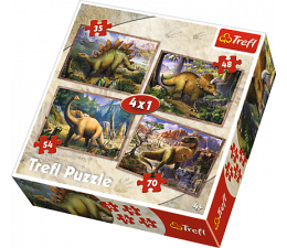 Trefl 4w1 Dinozaury  (34249 )