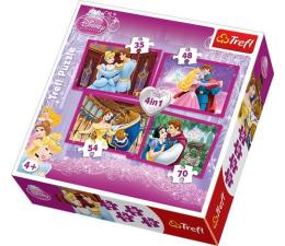 Trefl 4w1 Disney Księżniczki Zakochane pary  (34110)
