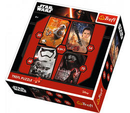 Trefl 4w1 Dobrzy kontra źli. Star Wars Episode VII  (34263)