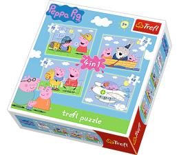 Trefl 4w1 Podróże Peppy (34246)