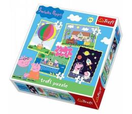Trefl Puzzle 4w1 Przygody Peppy  (34131)