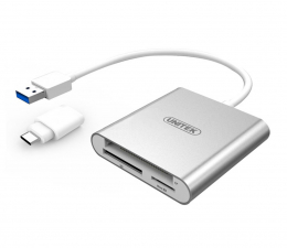 Unitek Uniwersalny Czytnik Kart USB 3.0 - Typ-C (Y-9313D)