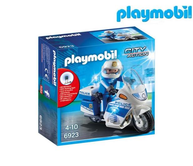 PLAYMOBIL Motor policyjny ze światłem LED - 344868 - zdjęcie