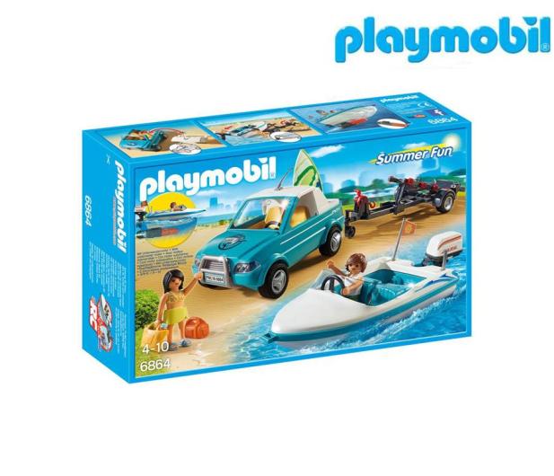 PLAYMOBIL Surfer-Pickup z motorówką - 344820 - zdjęcie