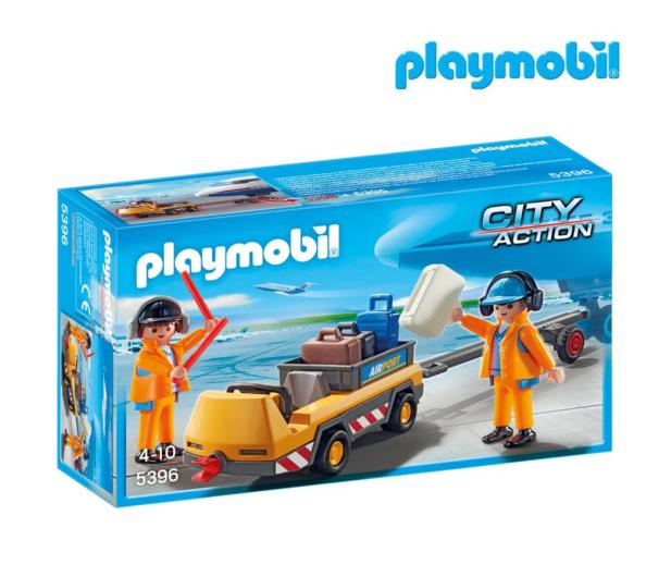 PLAYMOBIL Holownik samolotu z kontrolerem ruch - 386343 - zdjęcie