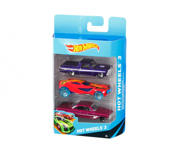 Hot Wheels Zestaw samochodzików 3 pack - 344363 - zdjęcie