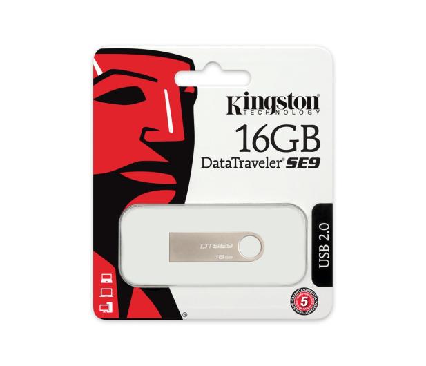 Kingston 16GB DataTraveler SE9 (Metalowy) - 75417 - zdjęcie 4
