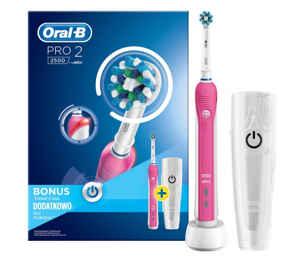 Oral-B Pro 2500 Pink + Pasta do zębów - 474592 - zdjęcie 3