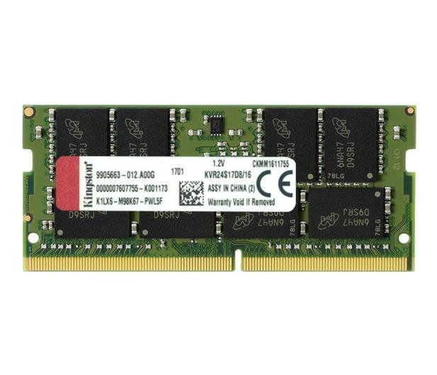 Kingston 16GB 2400MHz CL17 1,2V - 369773 - zdjęcie
