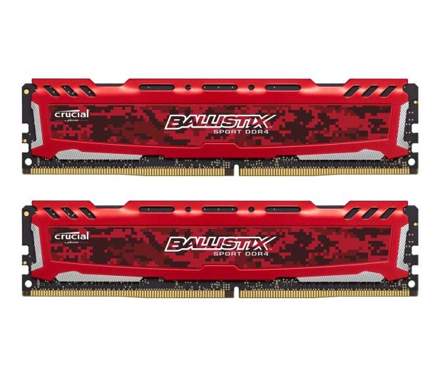 Crucial 16GB (2x8GB) 3000MHz CL15 Ballistix Sport LT Red  - 509888 - zdjęcie