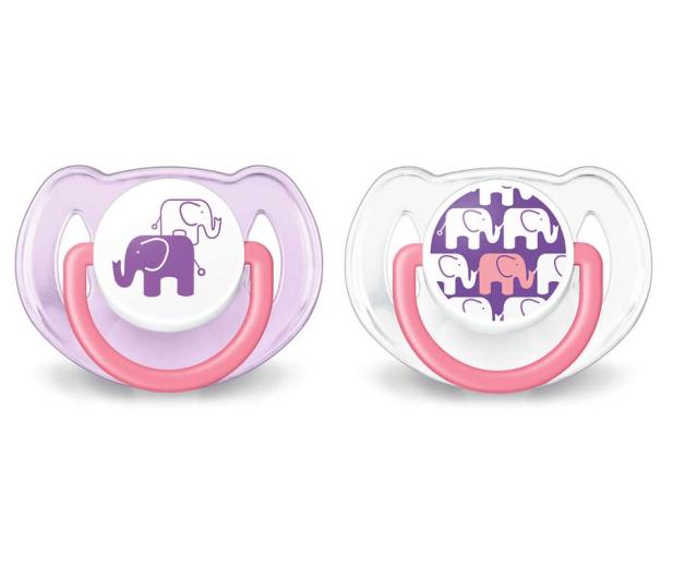 Philips Avent Smoczek Ortodontyczny 6-18m+ 2szt Różowy - 329116 - zdjęcie