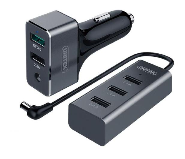 Unitek Ładowarka samochodowa 5 x USB Dwustrefowa QC 3.0 - 379854 - zdjęcie