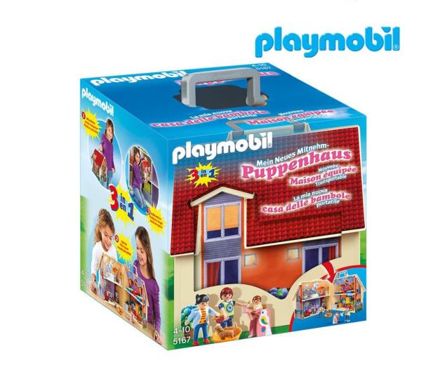 PLAYMOBIL Nowy przenośny domek dla lalek - 299410 - zdjęcie