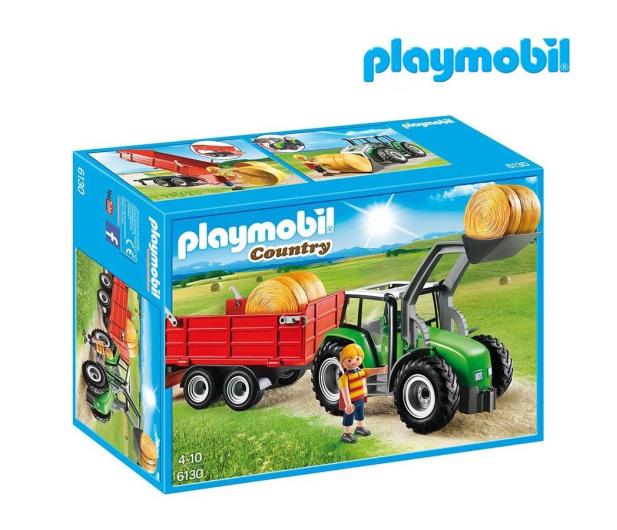 PLAYMOBIL Duży traktor z przyczepą - 301198 - zdjęcie