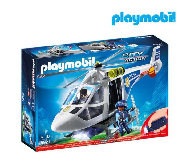 PLAYMOBIL Helikopter policyjny z reflektorem LED - 344866 - zdjęcie