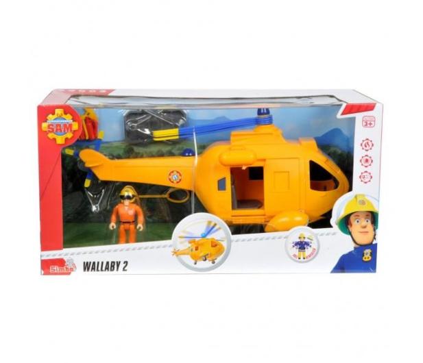Simba Strażak Sam helikopter Wallaby 2 z figurką - 384009 - zdjęcie 3
