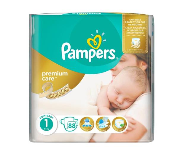 Pampers Premium Care 1 Newborn 2-5kg 88szt - 307909 - zdjęcie