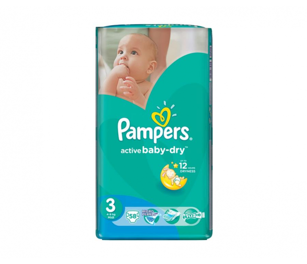 Pampers Active Baby Dry 3 Midi 4-9kg 58szt - 339030 - zdjęcie