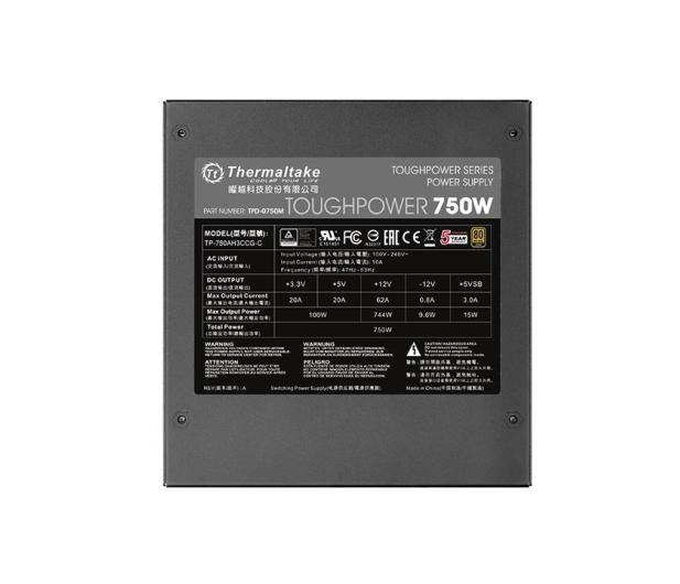 Thermaltake Toughpower 750W 80 Plus Gold - 402117 - zdjęcie 5