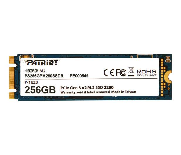 Patriot 256GB M.2 SSD PCIe Scorch 2280 - 401814 - zdjęcie