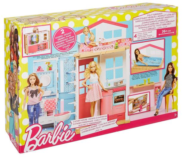Barbie Dwupoziomowy Domek dla lalek - 401602 - zdjęcie 6