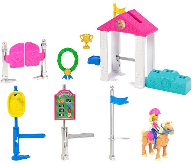 Barbie On The Go Zestaw Wyścig Kucyków z lalką  - 404578 - zdjęcie 3