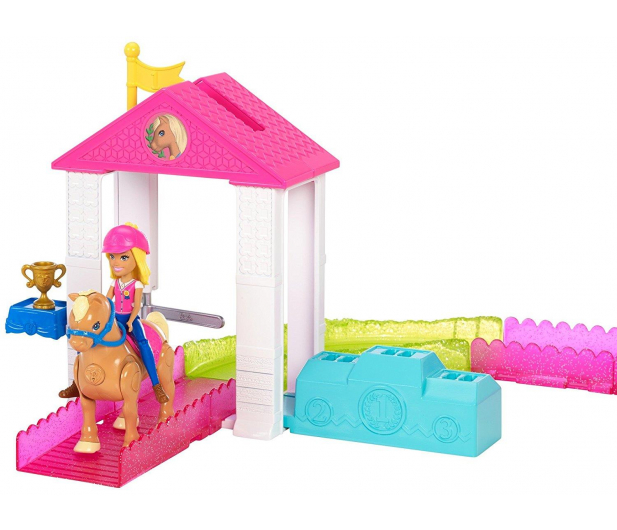 Barbie On The Go Zestaw Wyścig Kucyków z lalką  - 404578 - zdjęcie