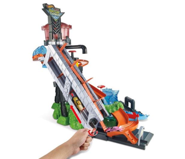 Hot Wheels City Mega Myjnia Atak Krokodyla - 456084 - zdjęcie 2
