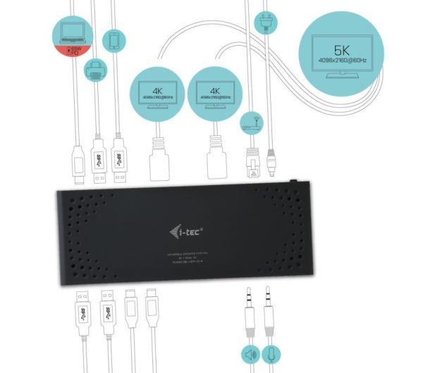 i-tec Thunderbolt3 - HDMI, USB, DisplayPort, 65W, PD - 456371 - zdjęcie 4