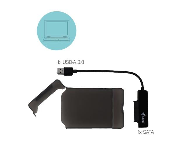 """i-tec Obudowa do dysku 2.5"""" MySafe (USB 3.0, czarny) - 456344 - zdjęcie 3"""