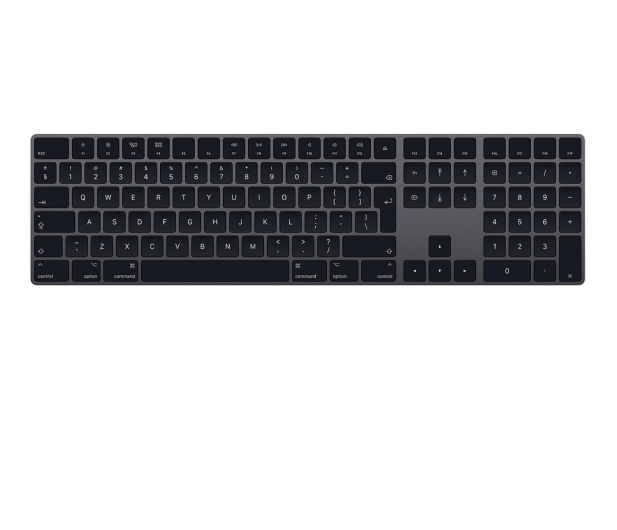 Apple Magic Keyboard z Polem Numerycznym Space Grey - 422111 - zdjęcie