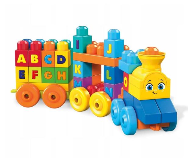 Mega Bloks Muzyczny Pociąg z literkami Klocki  - 452086 - zdjęcie