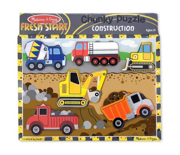 Melissa & Doug Puzzle drewniane Pojazdy budowlane - 456226 - zdjęcie