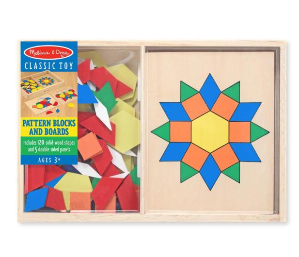 Melissa & Doug Drewniana układanka geometryczna  - 457033 - zdjęcie