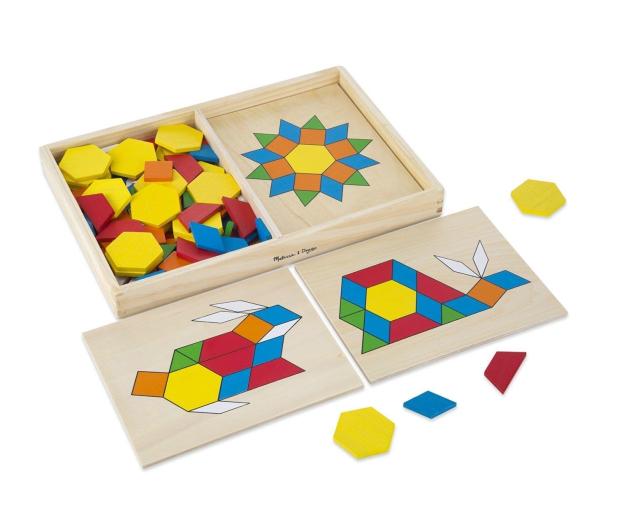 Melissa & Doug Drewniana układanka geometryczna  - 457033 - zdjęcie 2