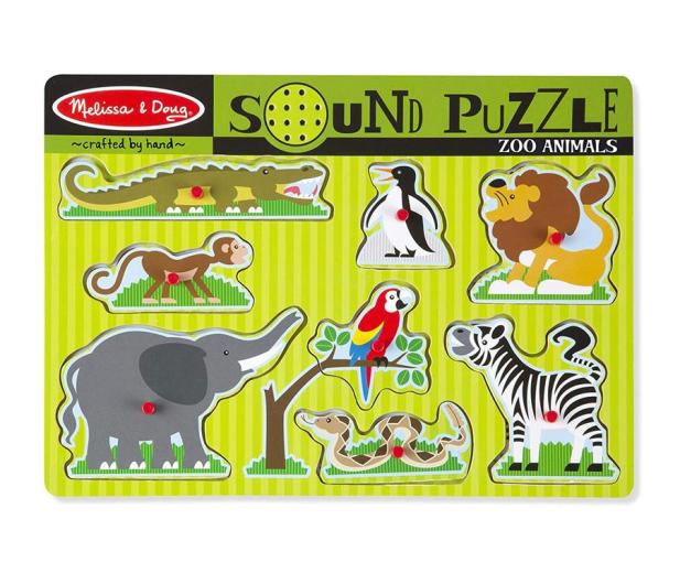 Melissa & Doug Puzzle ZOO zwierzątka dźwiękowe  - 456826 - zdjęcie